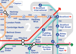 detail of the new London Tube Map